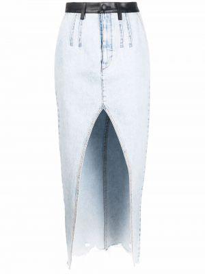 Синяя кожаная юбка Alexander Wang
