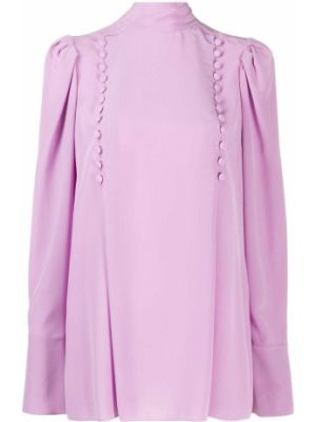 Bluzka jedwabna karmazynowy Givenchy