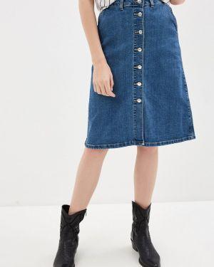 Джинсовая юбка синяя весенняя Zarina