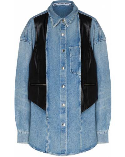 Джинсовая рубашка на кнопках с карманами Alexander Wang