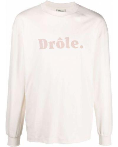 Biała bluza z printem Drole De Monsieur