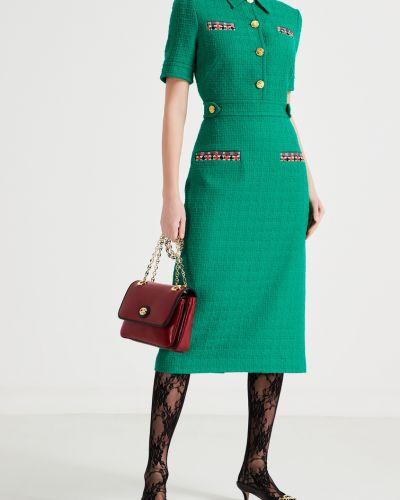 Платье миди на пуговицах платье-рубашка Gucci