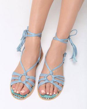 Niebieskie sandały materiałowe Multu