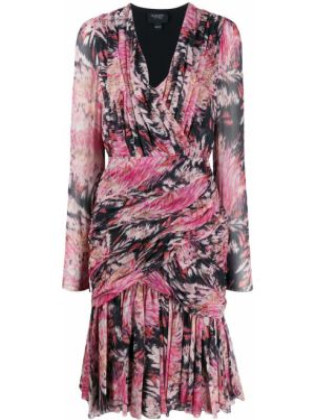 Платье мини с V-образным вырезом с абстрактным принтом Giambattista Valli