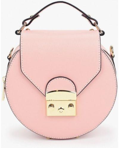 Розовая сумка с ручками из натуральной кожи Lamania