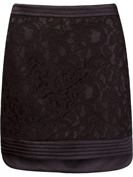 Ажурная прямая юбка на молнии с разрезом Martha Medeiros