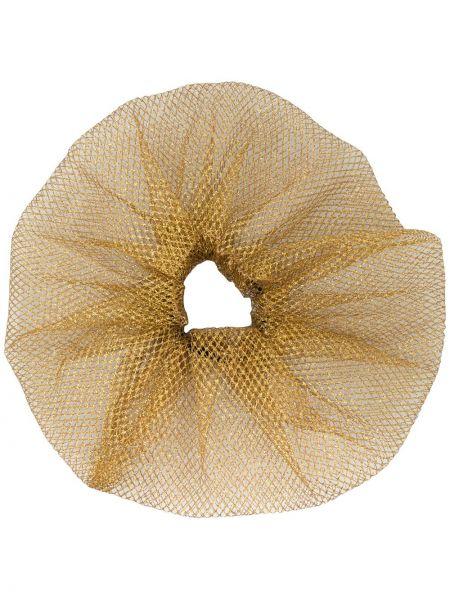 Золотистая желтая резинка для волос металлическая Atu Body Couture