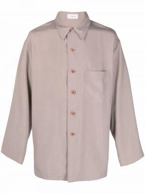 Koszula z jedwabiu - różowa Lemaire