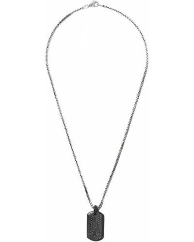 Черный серебряная подвеска с бриллиантом David Yurman