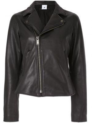Черная кожаная куртка на молнии Maison Mihara Yasuhiro