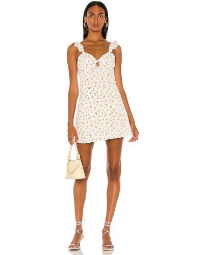 Белое хлопковое платье мини Bardot