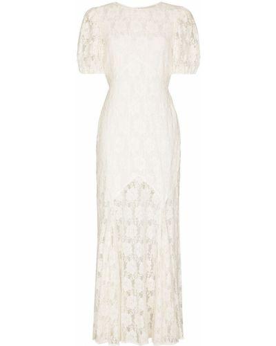 Biała sukienka bawełniana Rixo