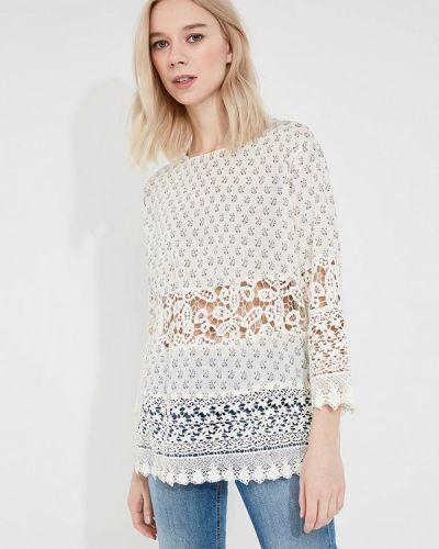 Белая кружевная блузка French Connection