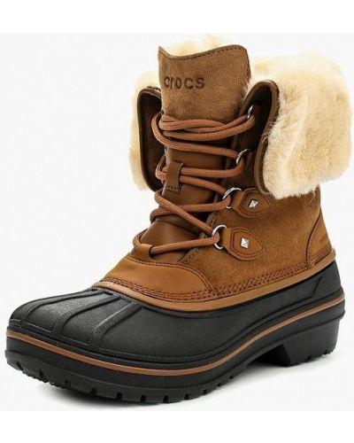 Ботинки осенние коричневые Crocs