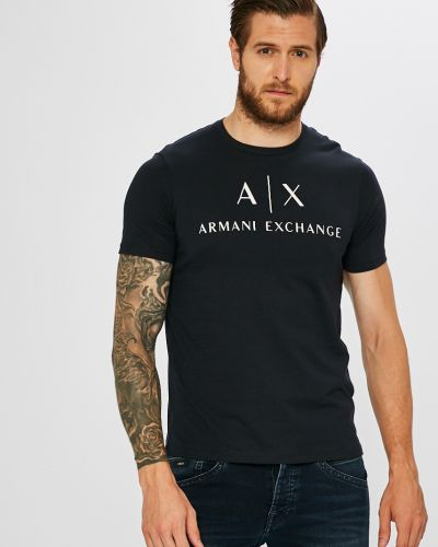Футболка темно-синий синий Armani Exchange