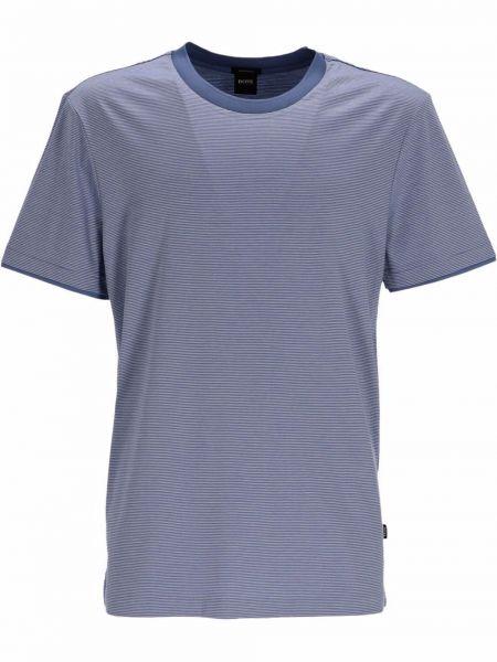 Niebieska t-shirt bawełniana Boss Hugo Boss