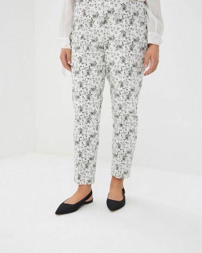Белые брюки зауженные Intikoma