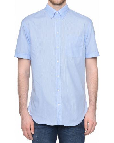 Рубашка хлопковая голубой Emporio Armani