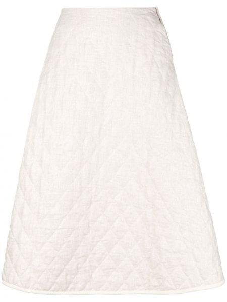 Хлопковая расклешенная юбка миди в рубчик école De Curiosités
