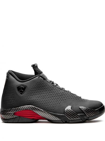 Высокие кроссовки черные на шнуровке Jordan
