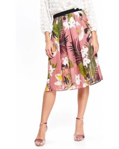 Różowa spódnica materiałowa Top Secret