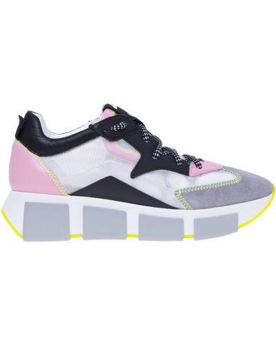 Różowe sneakersy skorzane Vic Matie