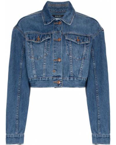 Синяя джинсовая куртка с манжетами на пуговицах Ksubi