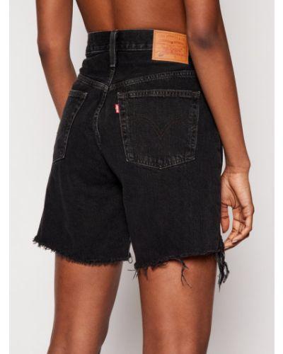 Czarne szorty jeansowe Levi's