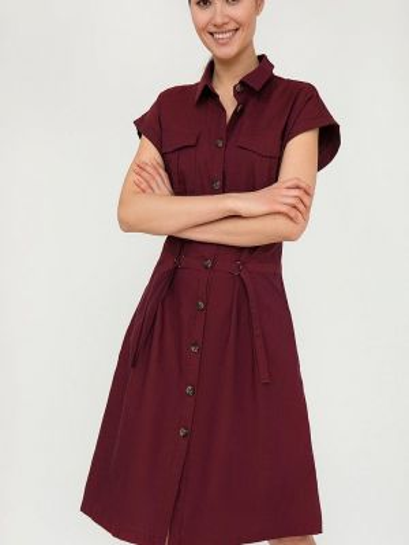 Платье бордовый платье-рубашка Finn Flare