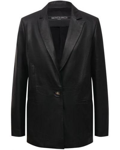 Кожаный пиджак с подкладкой Simonetta Ravizza