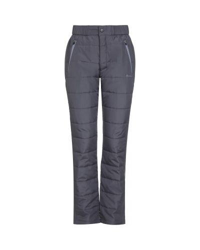 Прямые серые утепленные спортивные брюки Outventure