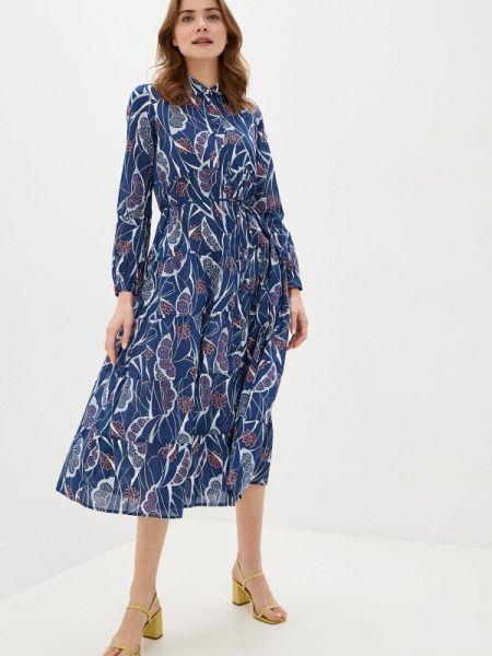 Платье платье-рубашка синее Marks & Spencer