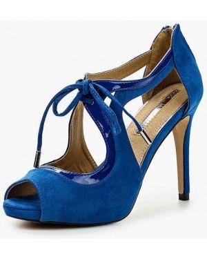 Лаковые синие кожаные босоножки Mariamare