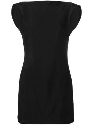 Czarna sukienka mini elegancka z wiskozy Calvin Klein 205w39nyc