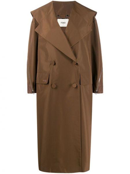 Пальто оверсайз на молнии Fendi