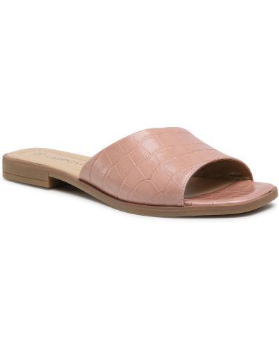 Różowe sandały skorzane Lasocki