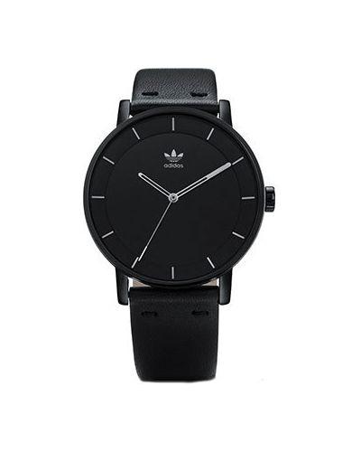 Часы водонепроницаемые с кожаным ремешком кварцевые Adidas