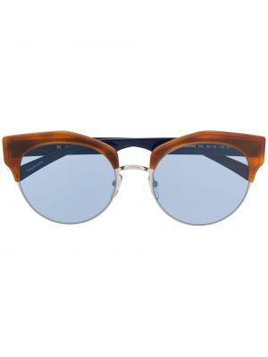 Прямые муслиновые черные солнцезащитные очки круглые Marni Eyewear