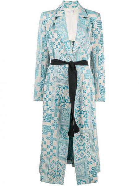 Шерстяное пальто - синее Forte Forte