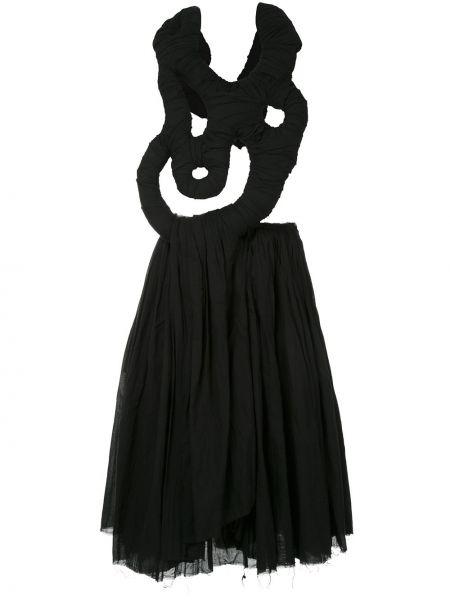 Драповое приталенное платье миди винтажное с драпировкой Comme Des Garçons Pre-owned