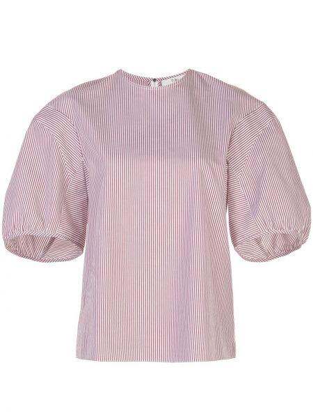 Koszula z krótkim rękawem biała z nadrukiem Tibi