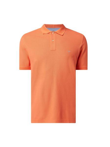 T-shirt bawełniana - pomarańczowa Fynch-hatton