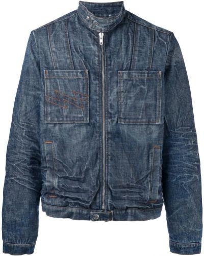 Синяя джинсовая куртка винтажная с манжетами на молнии Walter Van Beirendonck Pre-owned