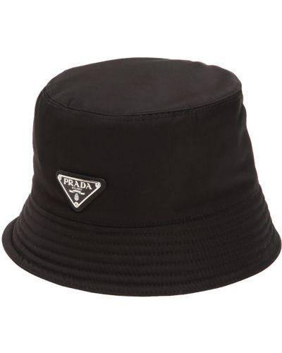 Nylon czarny kapelusz Prada