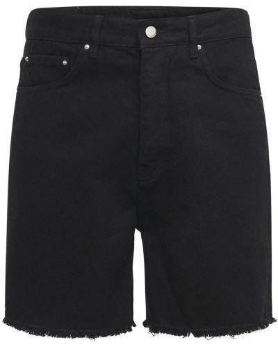 Czarne jeansy bawełniane Flaneur Homme