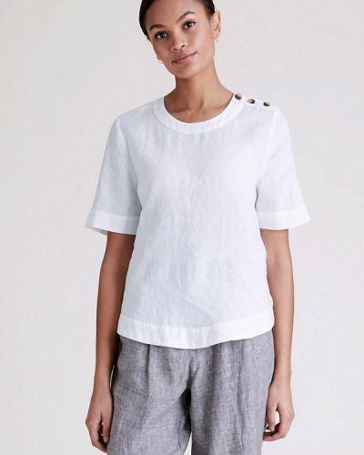 Белая блузка с короткими рукавами Marks & Spencer