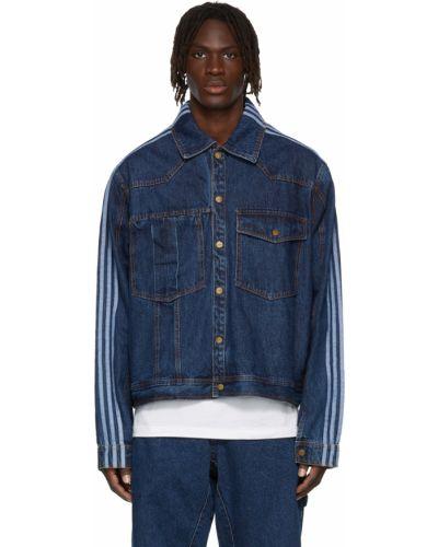 Niebieskie jeansy zapinane na guziki Adidas X Ivy Park
