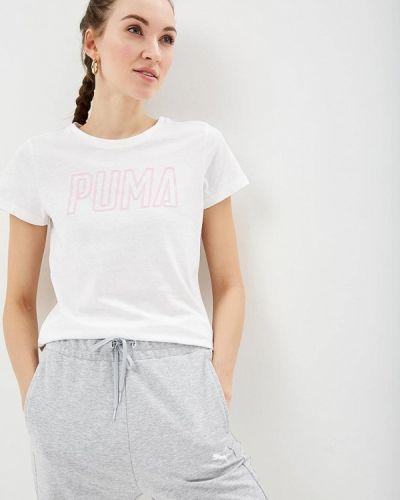Белое поло Puma