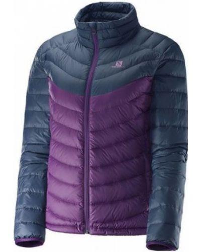 Городская фиолетовая пуховая куртка Salomon