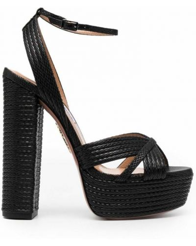 Czarne sandały Aquazzura